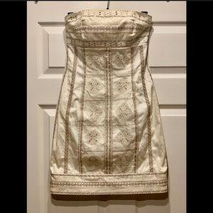 WHBM strapless embellished dress